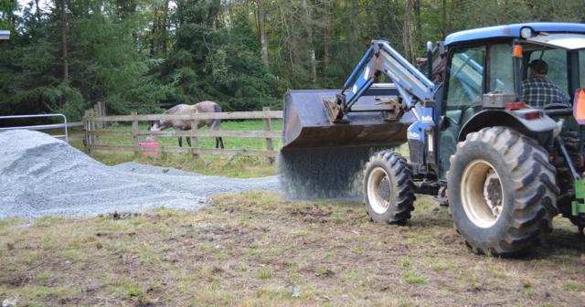 front-loader-spread-gravel
