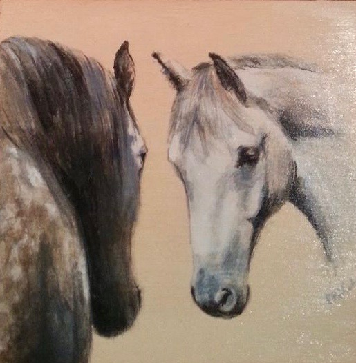 Zorra & Jax - hand painted on wood (c) Zuzanna Rajchert